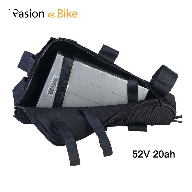 PASION E BIKE Batterie 52 V Dreieck Batterie Ebike Power Pack Samsung Lithium-Batterie Fahrrad 52 V 20.3AH Elektrische Fahrrad batterie