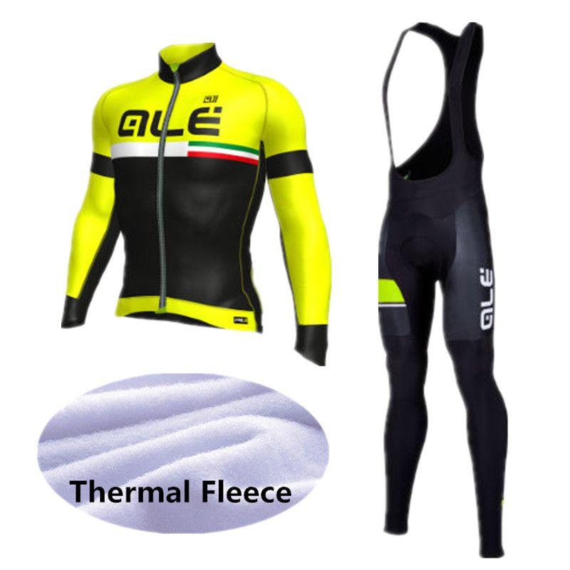 ALE Radfahren Set Winter Thermische Fleece Langen Ärmeln Radtrikot Ropa Ciclismo Fahrrad MTB Fahrrad Radfahren Kleidung 9D Gel Pad