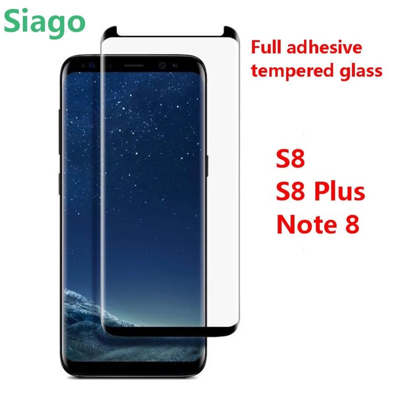S8 tempered glass Full adhesive S8 Plus protective film screen Note 8 tempered glass full cover For Samsung Galaxy newest design