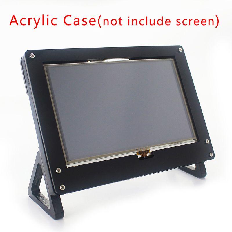 Pour Raspberry Pi 5 pouces etui écran noir blanc support LCD pour Raspberry Pi 3 modèle B Plus 5 pouces vitrine