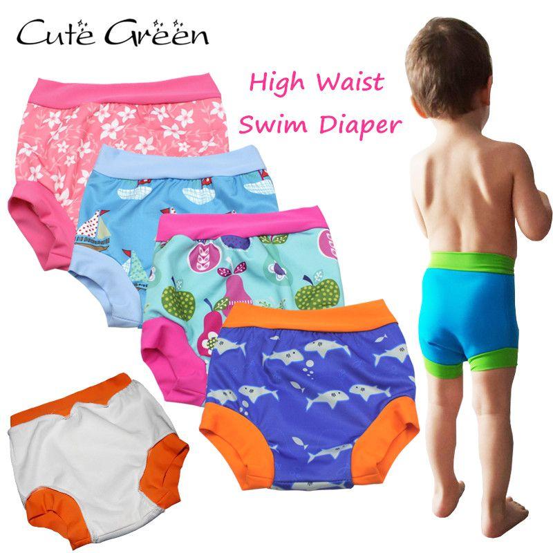 Cintura alta Bebé Nadar Pañales Para Bebé de Natación; Piscina Del Bebé Pañales Lavables Reutilizables Pañales de Natación Pantalón; Paño Del Bebé Panal Del pañal