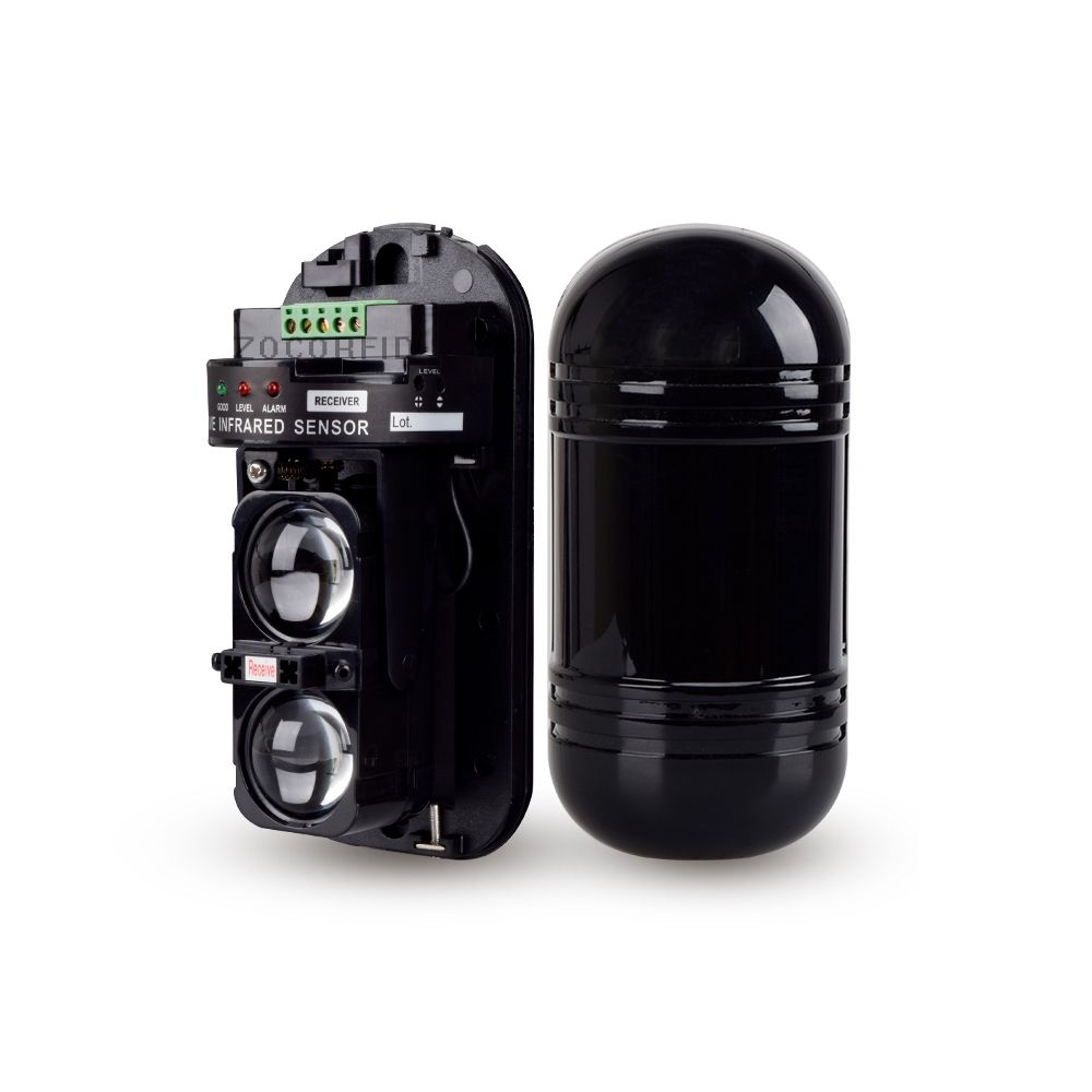 Waterproof Infrared Detector Burglar Alarm Photoelectric Dual Beam Perimeter Fence Window Outdoor Intrusion Alarm