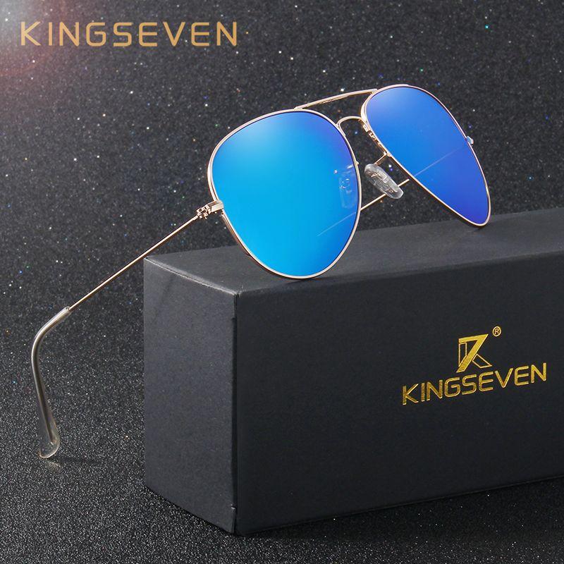 KINGSEVEN Classique Mode Polarisées lunettes de Soleil Hommes/Femmes Coloré Revêtement Réfléchissant Objectif Lunettes Accessoires Lunettes de Soleil 3026