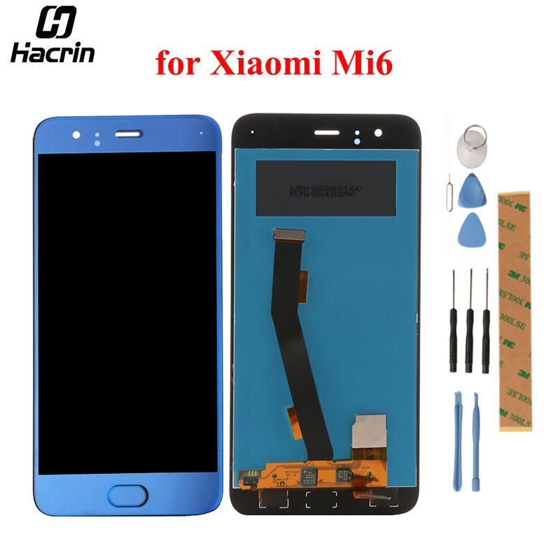 Für Xiaomi Mi6 LCD Display + Touchscreen 100% Getestet Digitizer Assembly Ersatz Für Xiaomi Mi6 Mi 6 m6 Mobile telefon