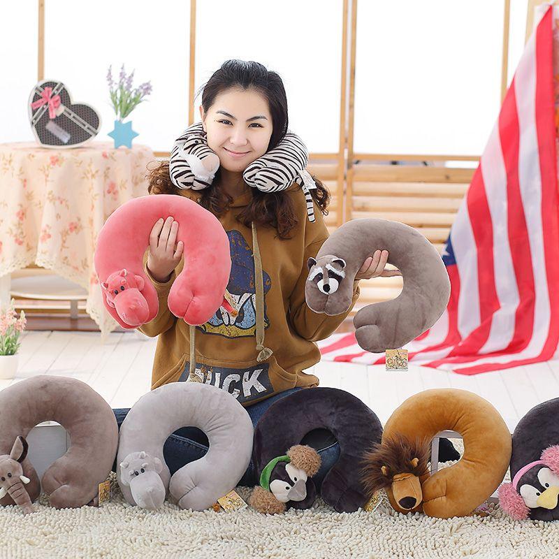 Мультфильм животных типа u подушку Портативный подушка для шеи путешествия подарок для малышей высокое качество и низкая цена