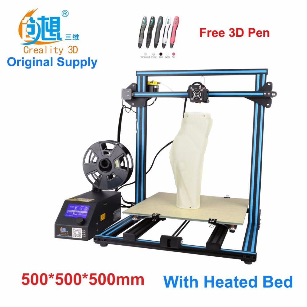 Creality CR-10-Max grande impression taille DIY de bureau 3D imprimante 500*500*500mm taille d'impression multi-type filament avec chauffée lit