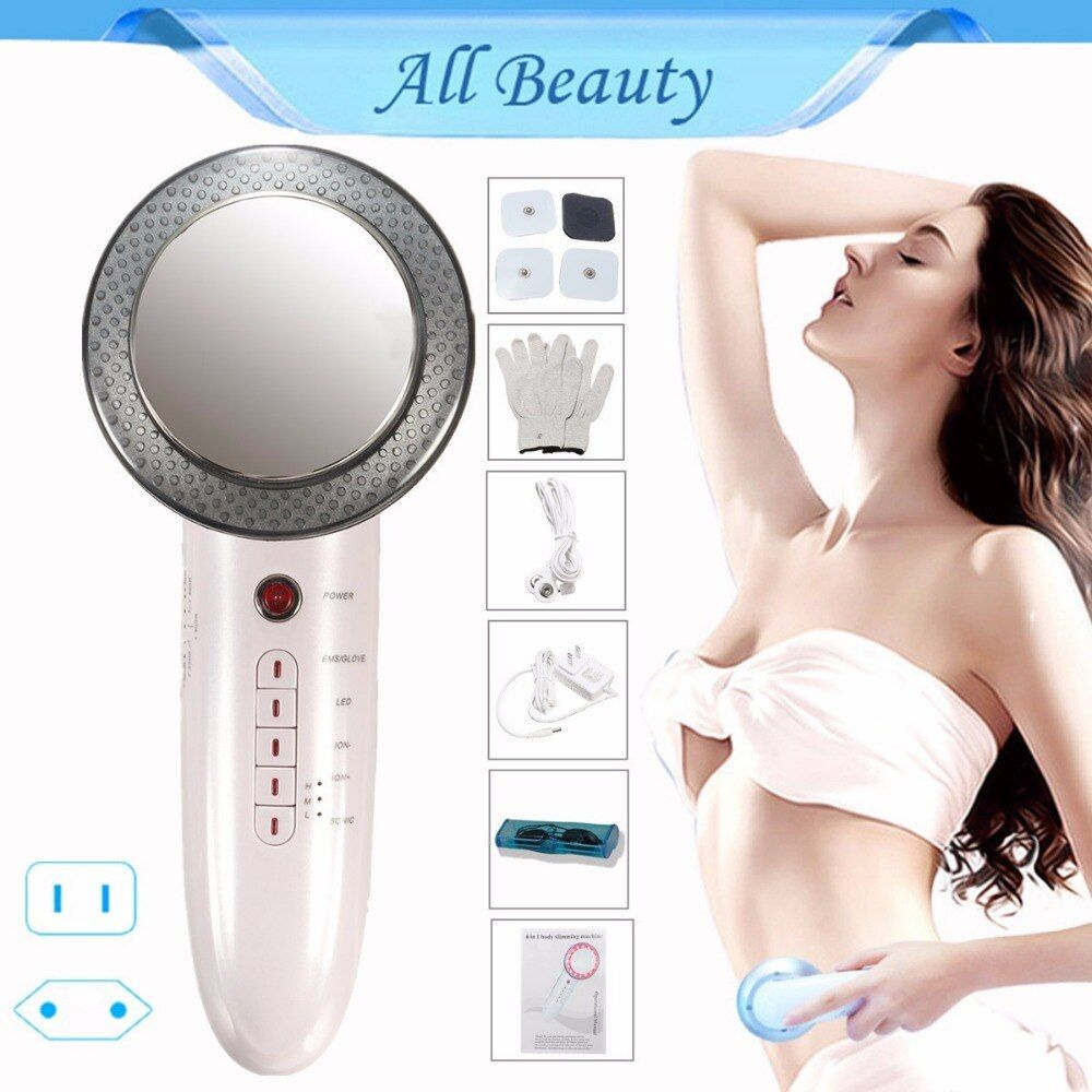 6IN1 1MHz masseur à ultrasons galvanique nettoyage du visage Photon Facial EMS brûleur de graisse corporelle soins de la peau ultrasons Cellulite Spa beauté