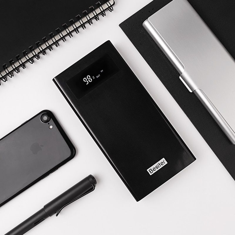 Besiter Power Bank 20000 mAh For Xiaomi Mi 2 Quick Charge 3.0 PowerBank Portable Charger External <font><b>Battery</b></font> For iPhone Pover Bank