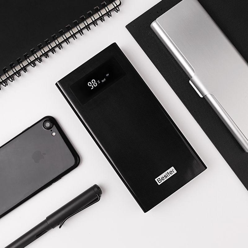 Besiter Puissance Banque 20000 mAh Pour Xiaomi Mi 2 Rapide Charge 3.0 PowerBank Portable Chargeur Externe Batterie Pour iPhone Pau banque