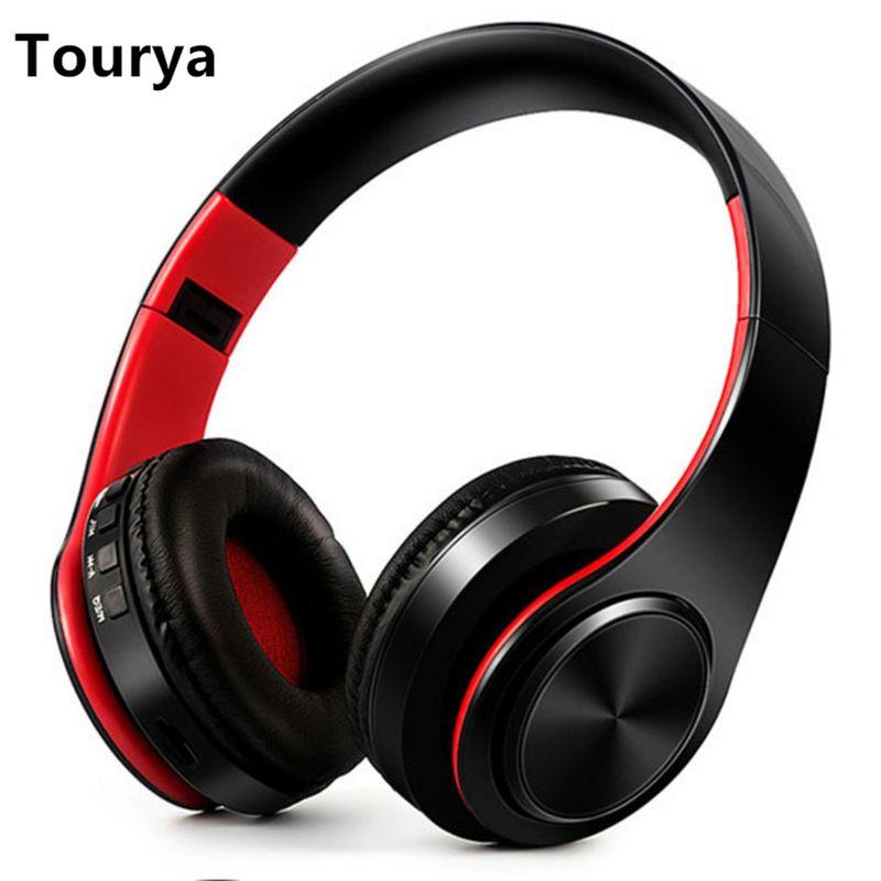 Tourya B7 casque sans fil Bluetooth casque écouteur casque écouteurs écouteurs avec Microphone pour PC téléphone mobile musique