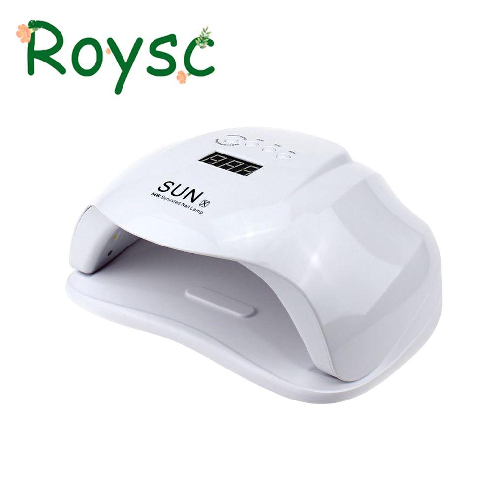 SUNX 54 watt Nagel Trockner Dual UV LED Lampe Mit LCD Zeit Display 36 LEDs Auto Sensing Maniküre Werkzeuge Aushärtung gel Polnisch