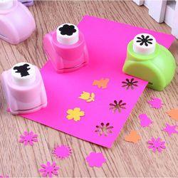 1 unids Kid Perforadoras mini impresión papel Shaper scrapbook etiquetas tarjetas de artesanía DIY Punch Cutter Herramientas 8 estilos caliente