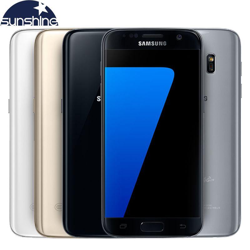 D'origine Samsung Galaxy S7 LTE 4G Mobile téléphone Quad Core 5.1 ''12.0MP NFC WIFI 4G RAM 32G ROM Smartphone