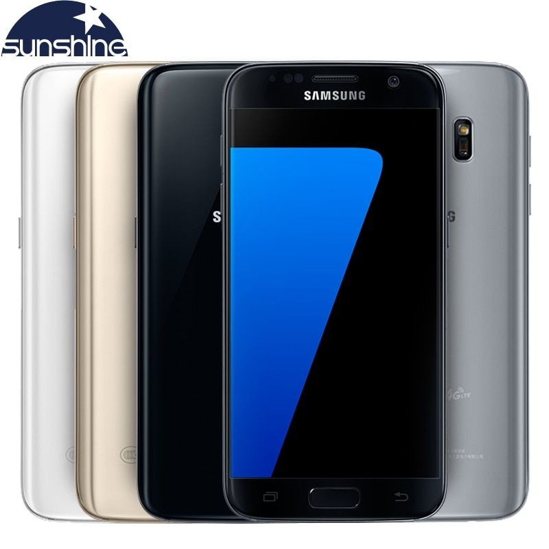 Original Samsung Galaxy S7 LTE 4G Mobile phone Quad Core 5.1'' 12.0MP NFC WIFI 4G RAM 32G ROM Smartphone
