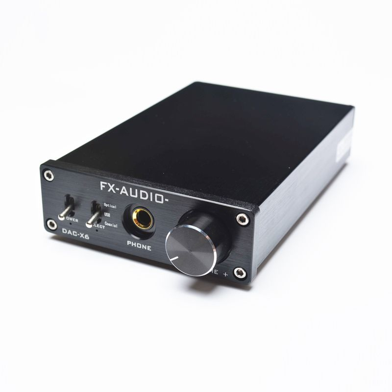 FX-Audio DAC X6 Professional Headphone Amplifier USB Coaxial Optical DAC HiFi Audio Decoder Digital Amplifier 16Bit/192KHz