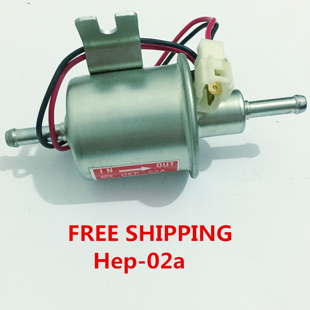 Free shipping diesel petrol gasoline Universal 12v Electric Fuel Pump HEP-02A For Carburetor,Motorcycle,ATV