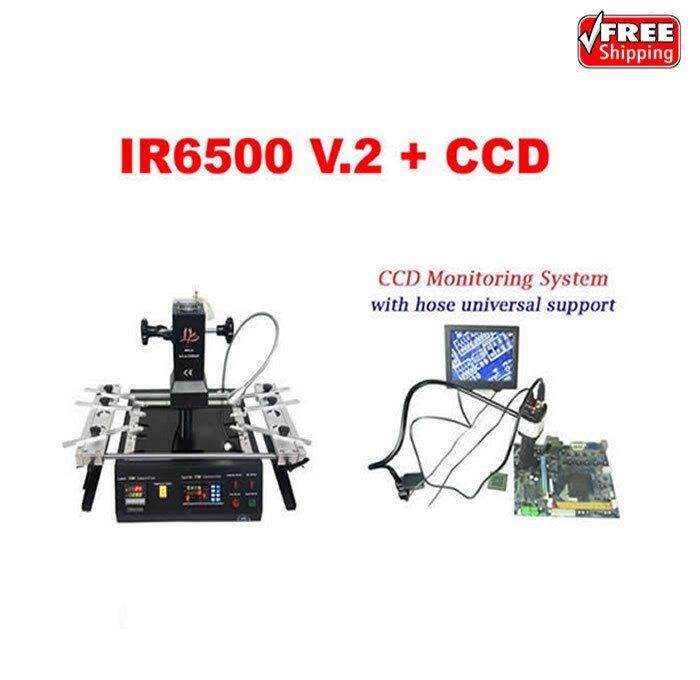 LY IR6500 V.2 infrared BGA rework station bigger preheat area+Cobra CCD camera supervising system with 8'' monitor