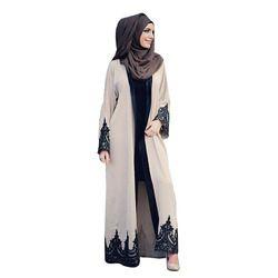 Nouvelle abaya pour les femmes dentelle à manches longues robe musulmane Islamique turc femmes vêtements Djellaba Robe Robe