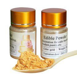 10 Gramme Comestibles Poudre Alimentaire or couleur pour décorer Chocolat et gâteau, Arts décoration alimentaire, fondant pigment