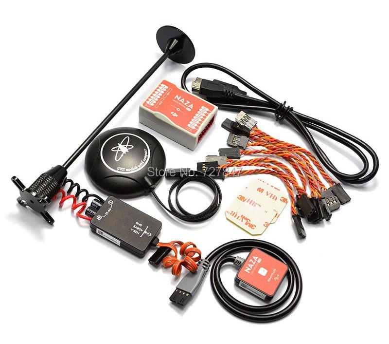 Naza M Lite Multi Flyer Version Vol Contrôle Contrôleur w/PMU Power Module & LED & Câbles et M8N GPS et support de stand