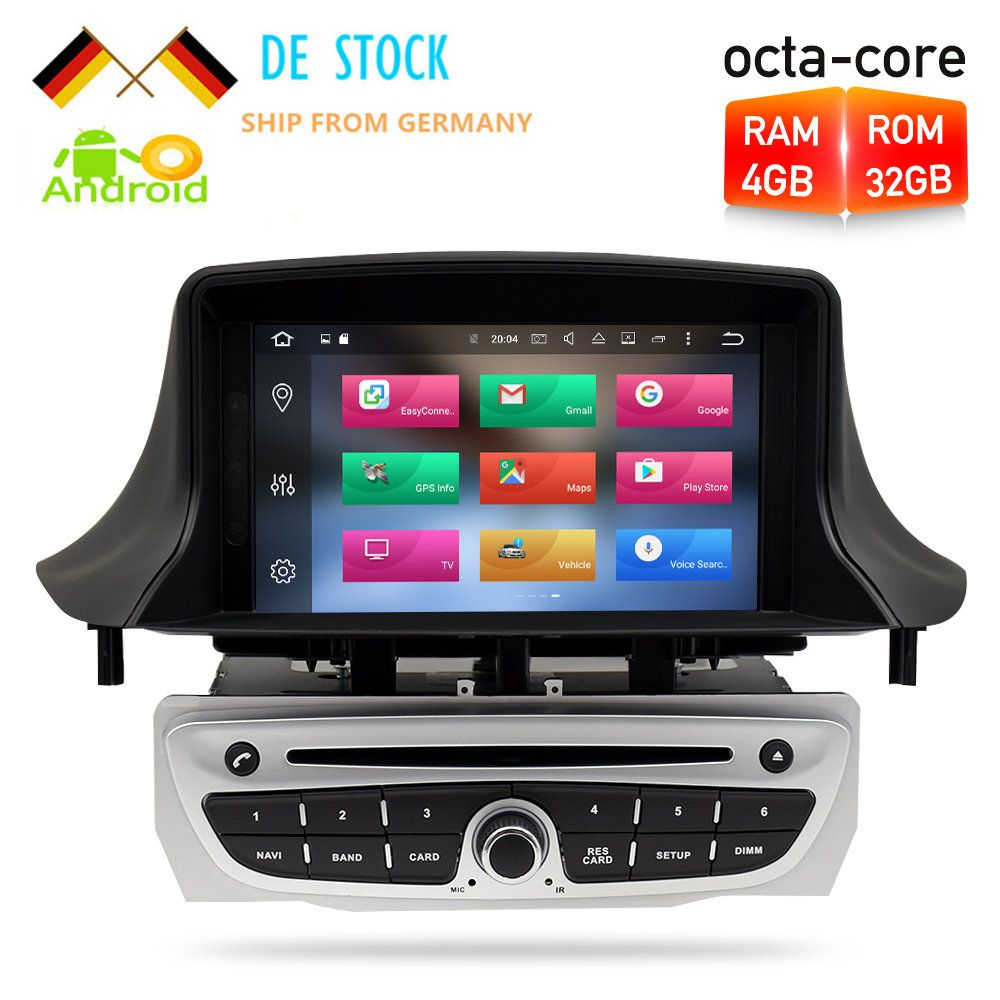 Octa Core Android8.0 Car DVD Player GPS Navigation Multimedia Stereo For Renault Megane 3 Fluence 2009-2014 Auto Radio Audio