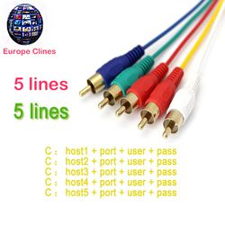 1 Year Europe CCCAM  cable for Europe clines HD DVB-S2 Satellite tv Receiver 5 Clines  Support in Spain/Germany,,Ireland
