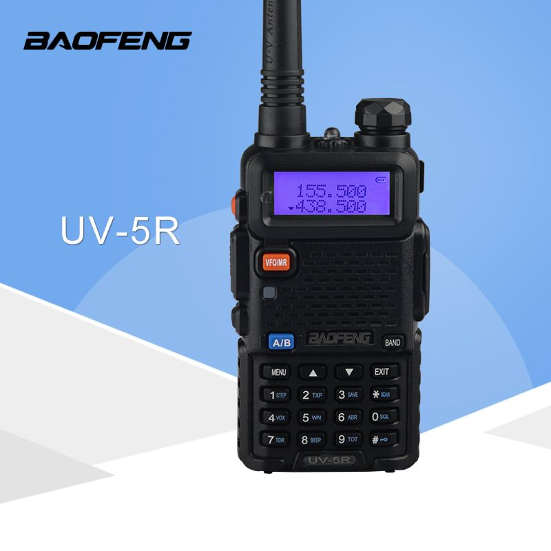 Talkie walkie Baofeng UV5R Ham Two Way Radio talkie walkie Double-Bande Émetteur-Récepteur (Noir)