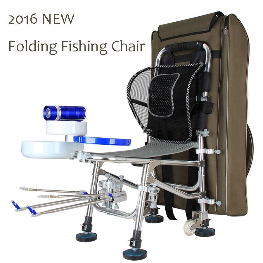 2016 NUEVA Silla de Masaje Multifuncional Portátil Plegable Silla De Pesca Para La Pesca con la Carga De la mochila 300 KG 10 años de garantía