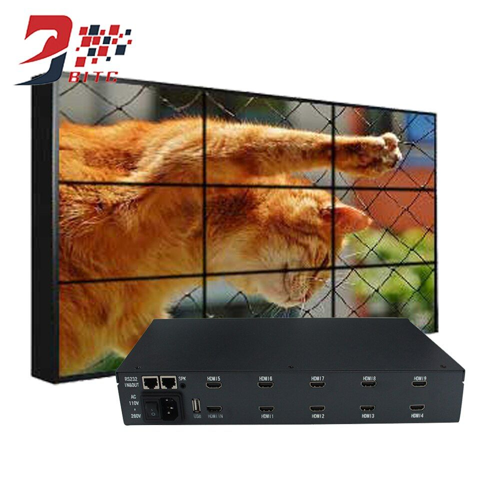 SZBITC New Product Video Wall Processor 2x2 3x3 1080P Resolution For LCD TV Video Wall HDMI Output DVI USB