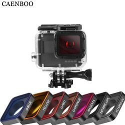 CAENBOO Action Camera Filters For GoPro Hero 5 6 WaterProof Filter UV CPL ND Color Filters Set Hero5 Hero6 Outdoor Accessories