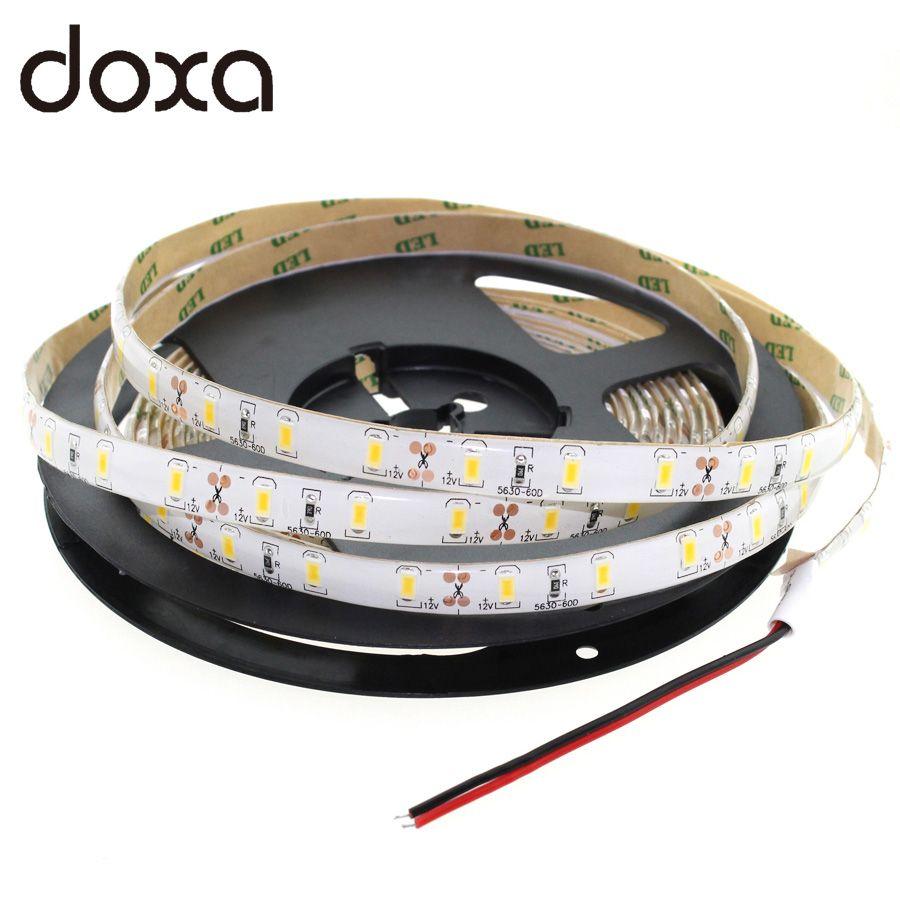 Free shipping SMD2835/3528 12V 60Leds/m Waterproof LED Strip 1m/2m/3m/4m/5m White/Blue/RGB More Colors Flexible LED Light