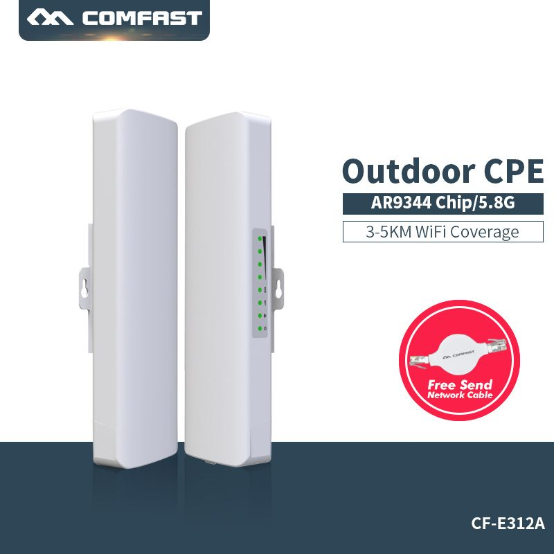 300Mbps 5.8Ghz outdoor Access Point Comfast CF-E312A with 14dBi Antenna high power wireless bridge 1-2KM CPE Nanostation