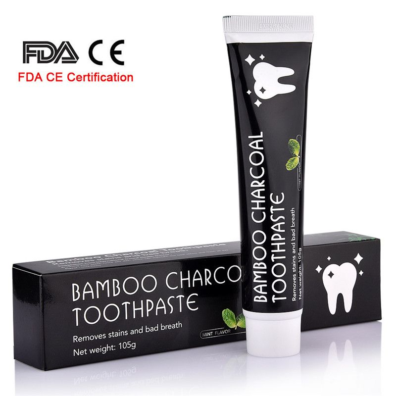 Soins dentaires Bambou Naturel Charbon Activé Blanchiment Des Dents Dentifrice Hygiène Buccale Dentaire FDA Certification CE Dropshipping