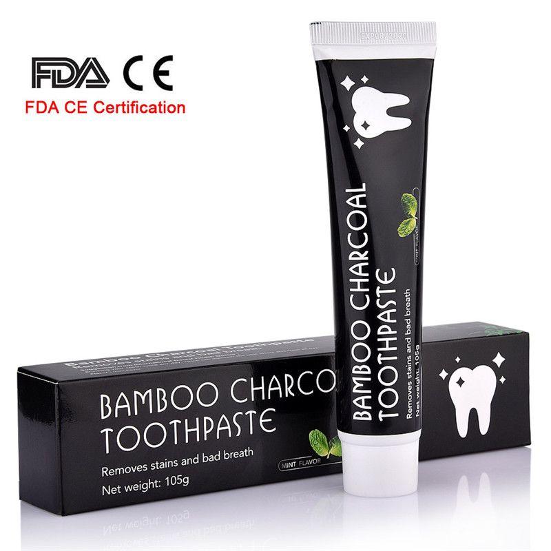 Soins des dents bambou naturel charbon actif blanchiment des dents dentifrice hygiène buccale dentaire FDA CE Certification livraison directe