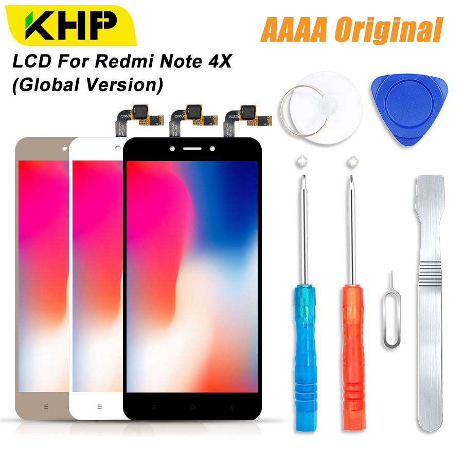 2018 KHP 100% AAAA Original LCD Screen For Xiaomi Redmi Note 4X LCD Global Version Display Touch Module Screens Replacement LCDS