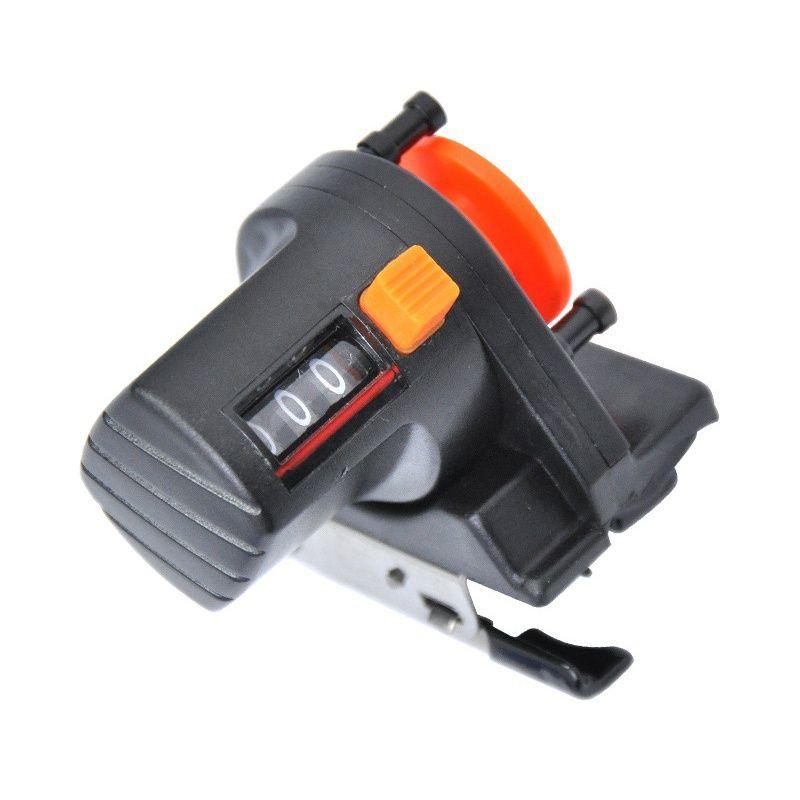 1 pièces 0-999 M ligne de pêche détecteur de profondeur compteur outil de pêche s'attaquer longueur jauge compteur