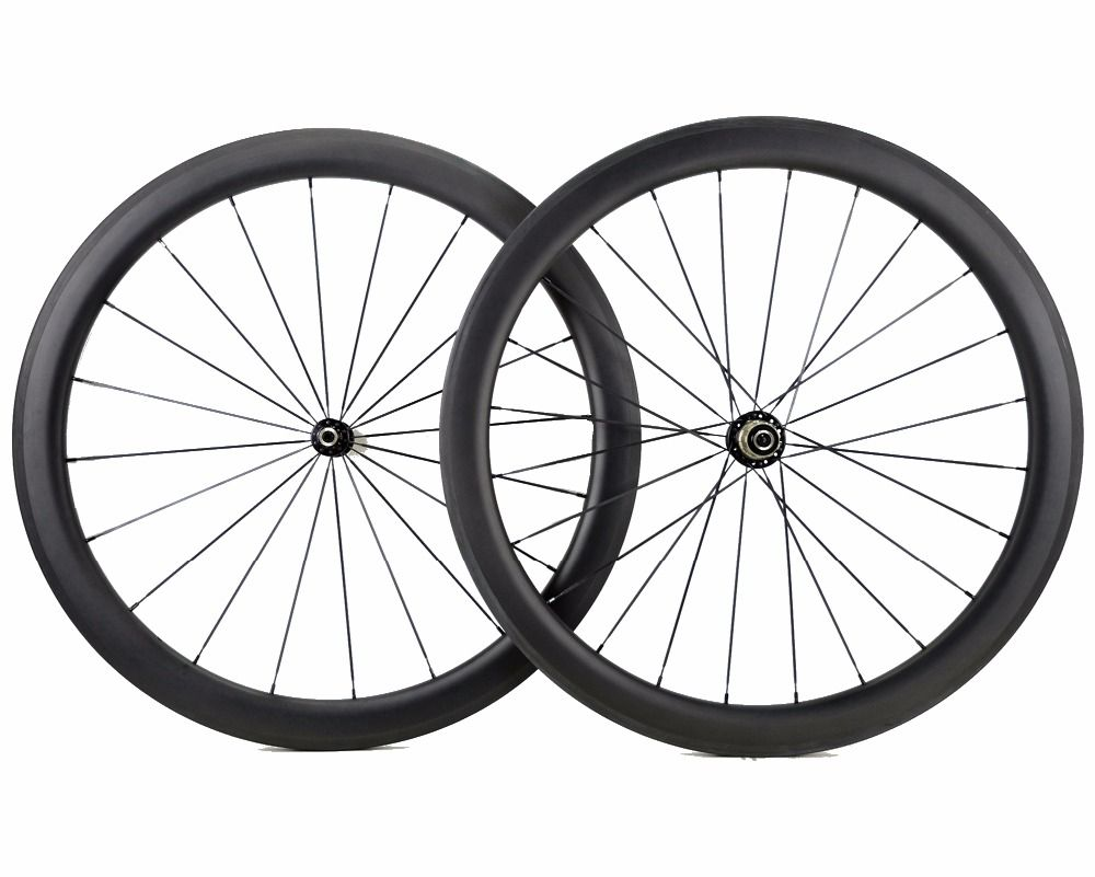 700C 50mm depth Road bike carbon wheels 25mm width bicycle clincher/Tubular carbon wheelset U-shape rim Customizable decals