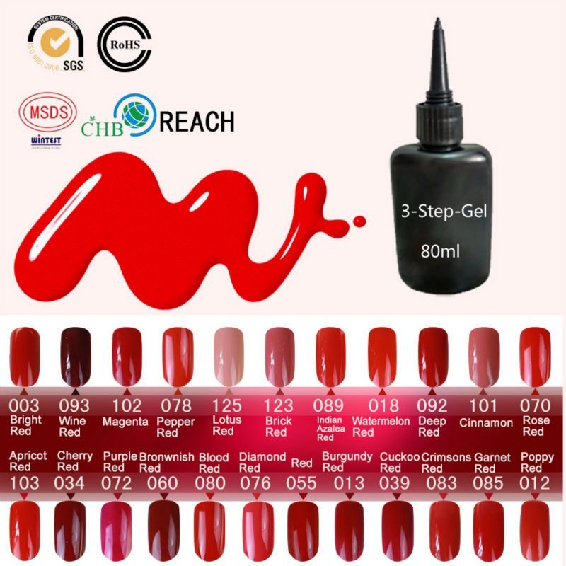 Gel Nail Polish UV&LED Shining Colorful 162 Colors 80ml UV Gel Varnish Cheap Manicure Lucky Gel Factory Wholesale