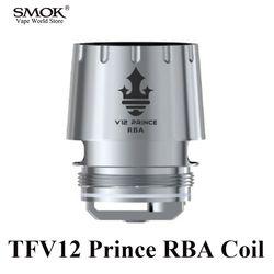 Rokok elektronik SMOK TFV12 Pangeran Tank RBA Coil Vape Mag Kit Kotak Mod Alat Penyemprot RBA Mag Kit Tongkat Pangeran Core S206