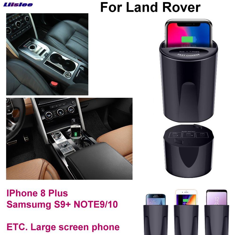 Auto Qi Schnelle Drahtlose Lade Schnell ladegerät Für Rover Discovery Sport Evoque Velar