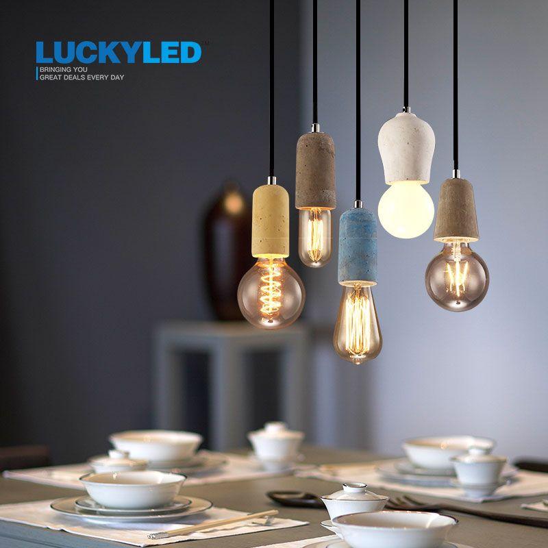 Lucky vintage pendentif lumière Style américain Style Country E27/E26 douille ciment lampe titulaire décoration intérieure luminaire suspendu