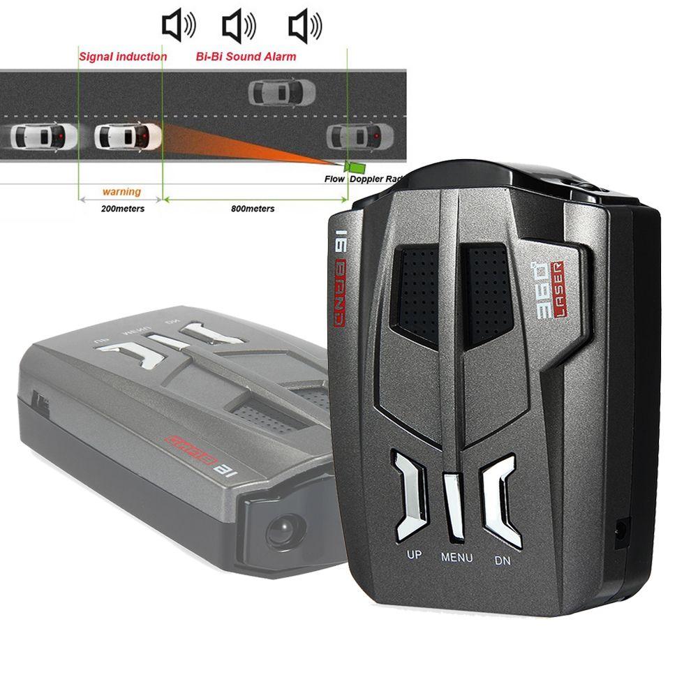 V9 12V Car Anti Radar Detector 360 Degree Auto Trucker LED Display Driving Safety Alarm System Security Speed Warning Detector