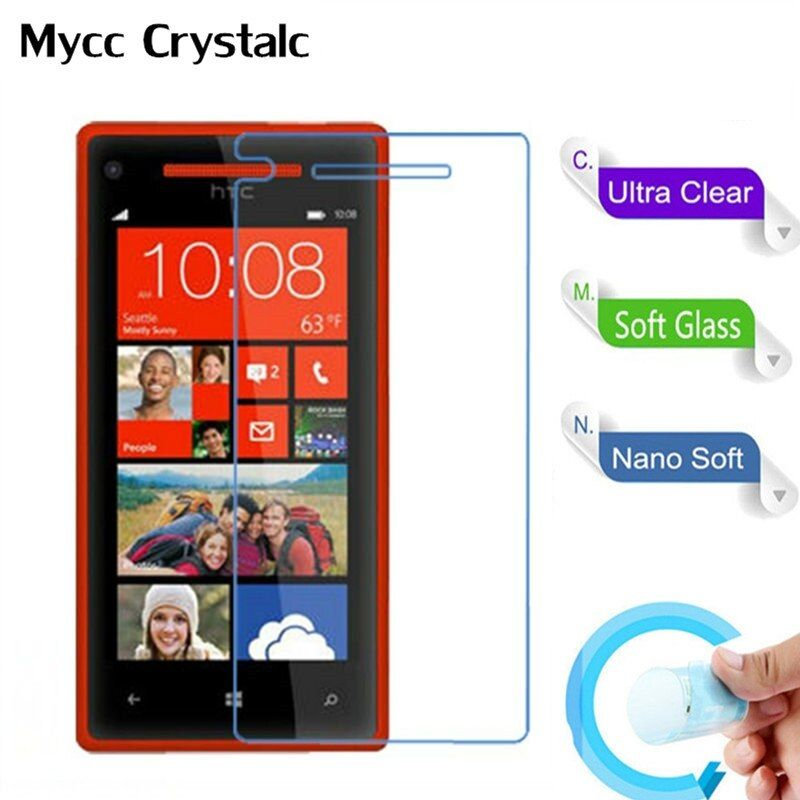 Nano Explosion-proof Soft Glass Protective Film Screen Protector Film for HTC 8X C620E C620T C620D htc8x