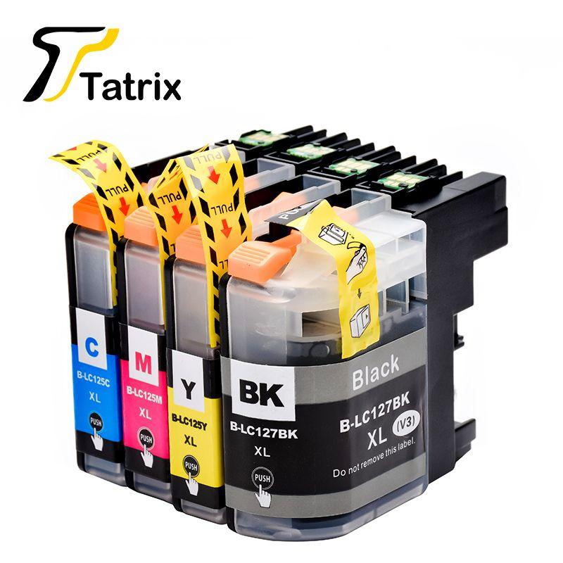 Tatrix Pour Frère LC127 LC125 Cartouche D'encre Pour Brother MFC-J4410DW J4510DW J4610DW J4710DW J6520DW J6720DW J6920DW