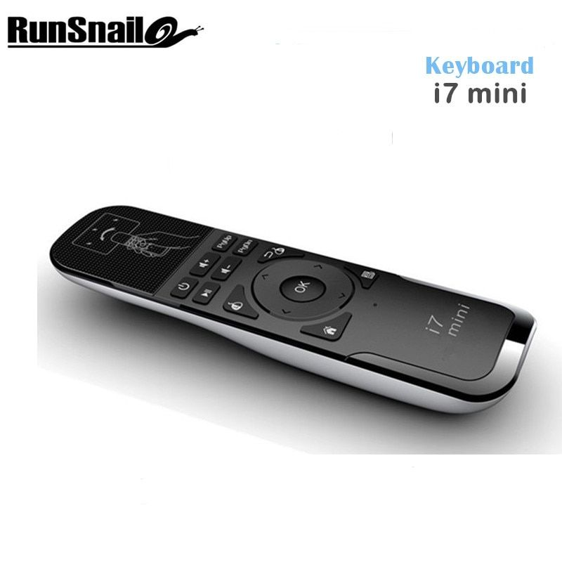 Mini i7 Fly Air Mouse USB 2.4Ghz Wireless Remote Control for PC/Smart TV/Android TV Box/TV Dongle Gyroscope PS3 Motion Sensing