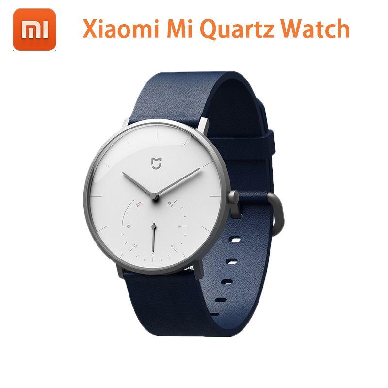 Original Xiaomi Mi Quartz Watch Tech Touch Art On Wrist Mi Home APP Steps on dial Time auto calibrate Smart alert vibration