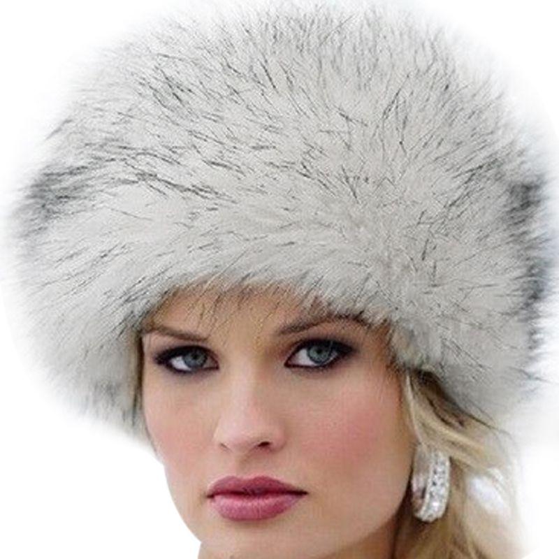 2018 New Fashion Winter Women Russian Faux Fur Cap Fluffy Fox Fur Hats Headgear Outwear Girls Raccoon Fur Beanies Cap Fur Hat W0