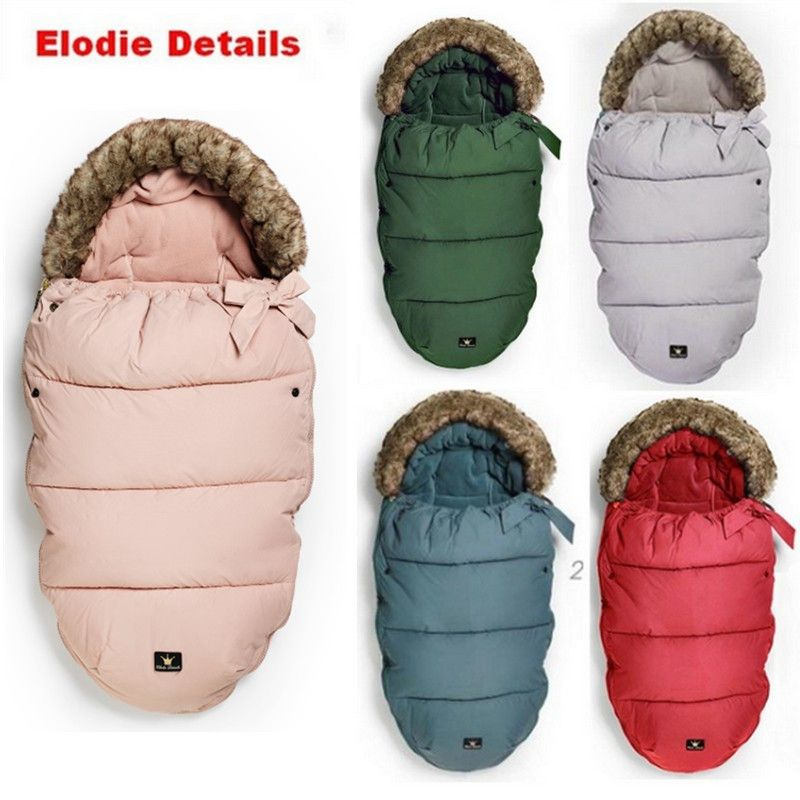 Stroller Sleeping Bag Baby Stroller footmuff  0-36M kids Warm Envelope sleepsacks footmuff for pram Elodie details Drop ship