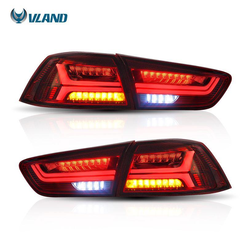 Vland Car Styling For Mitsubshi Lancer Tail Light 2008-2017 Led Rear Light Red Lens Signal light Car light Assembly