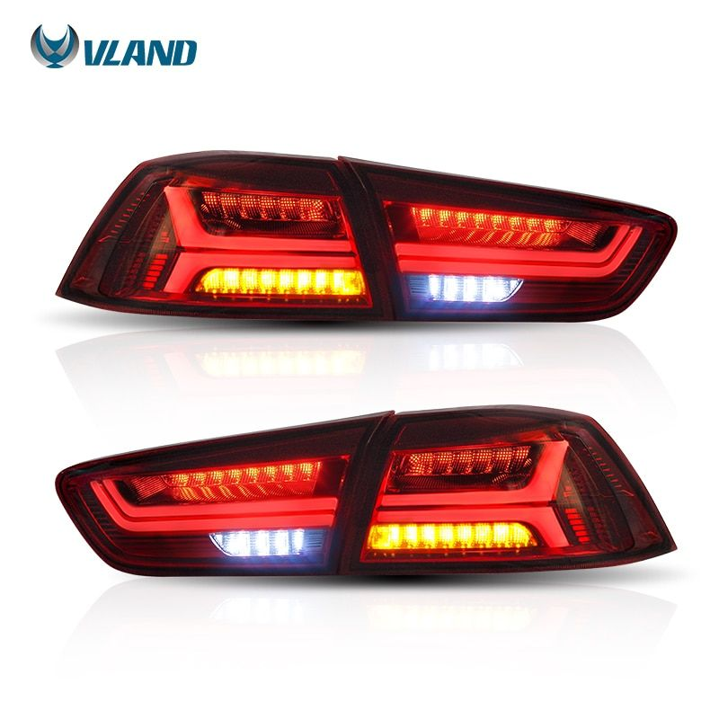 Vland Car Styling For Mitsubshi Lancer Tail Light 2008-2017 Led Rear Light Red Lens Signal light Car light Assembly